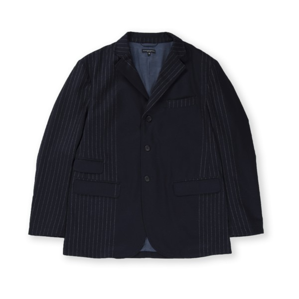 Engineered Garments Lawrence Jacket (Dark Navy Wool Chalk Stripe)