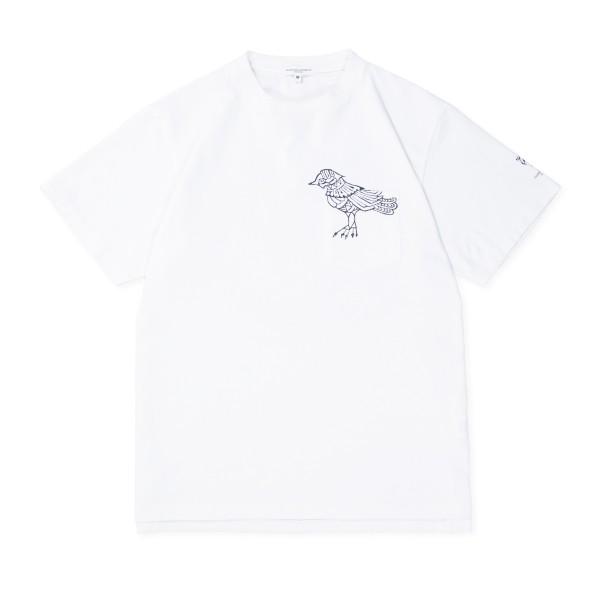 Engineered Garments Printed Cross T-Shirt (White/Phoenix Print)