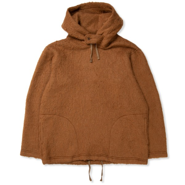 Engineered Garments Pullover Hooded Sweatshirt (Brown Solid Mohair)