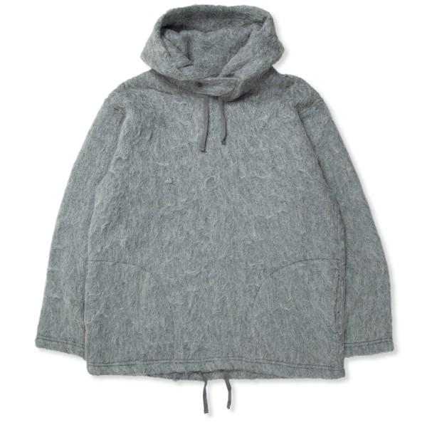 Engineered Garments Pullover Hooded Sweatshirt (Heather Grey Solid Mohair)