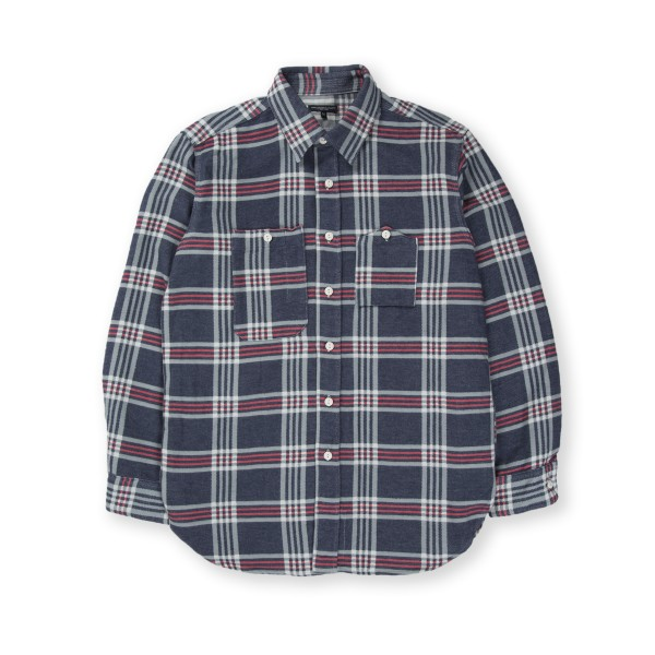 Engineered Garments Work Shirt (Navy Teal Red Big Plaid)