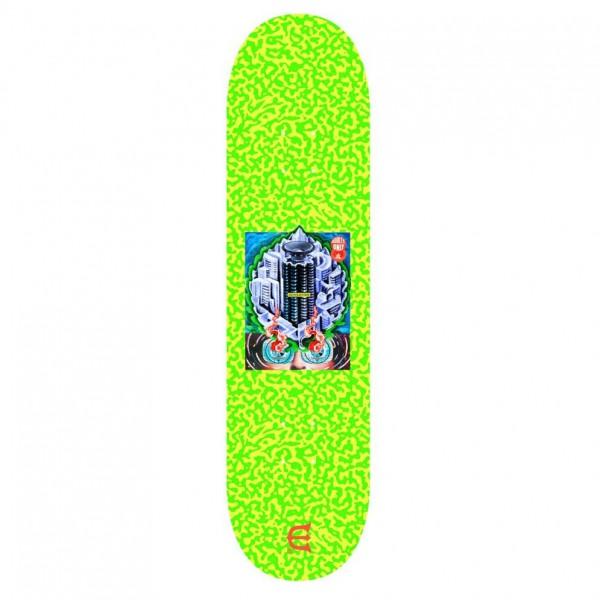 "Evisen Skateboards Club W Skateboard Deck 8.25"" (Safety Green)"
