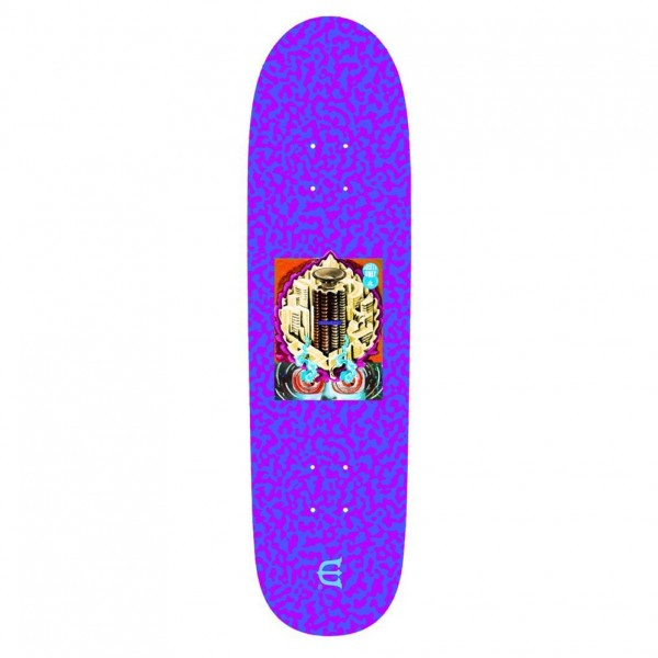 "Evisen Skateboards Club W Skateboard Deck 8.8"" (Purple)"