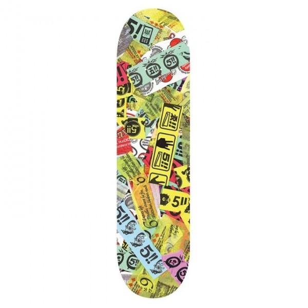 "Evisen Skateboards Last 5 Skateboard Deck 8.25"" (Multi)"
