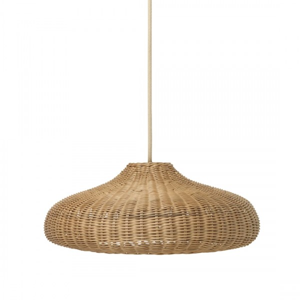 ferm LIVING Braided Pendant Disk Lampshade (Natural)