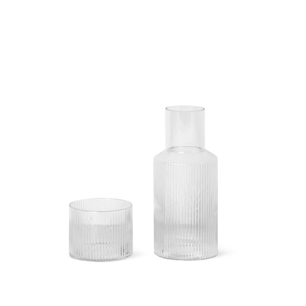 ferm LIVING Ripple Carafe Set Small (Clear)