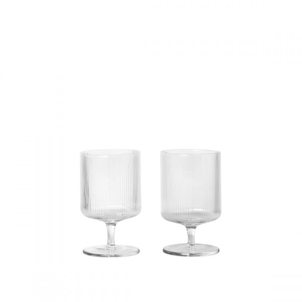 ferm LIVING Ripple Wine Glasses Set of 2 (Clear)