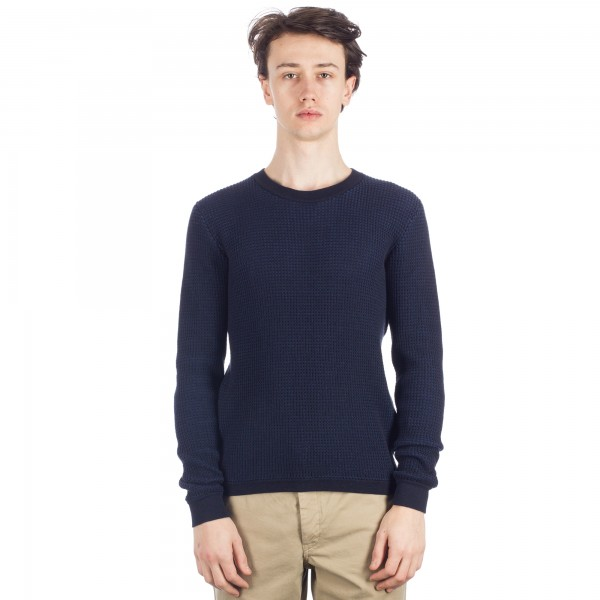 Folk Fleck Knit Jumper (Navy)