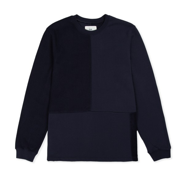 Folk Fracture Crew Neck Sweatshirt (Navy)