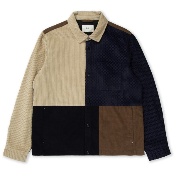 Folk Fracture Jacket (Navy Tobacco Mix)