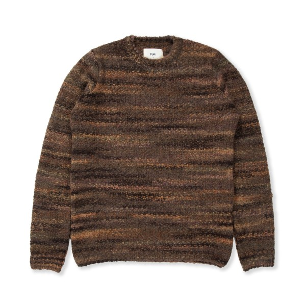 Folk Highlight Crew Jumper (Charcoal Marble)