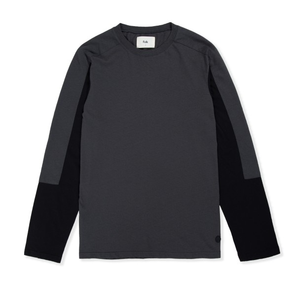 Folk Junction Long Sleeve T-Shirt (Charcoal Black)