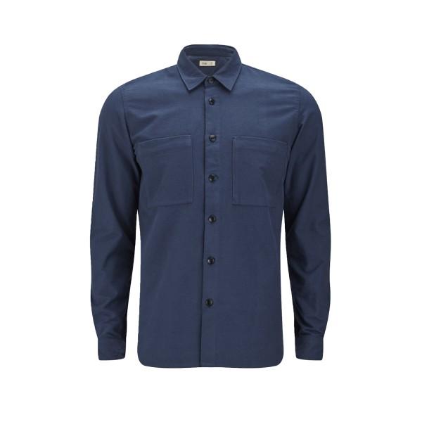 Folk Layered Shirt (Navy)