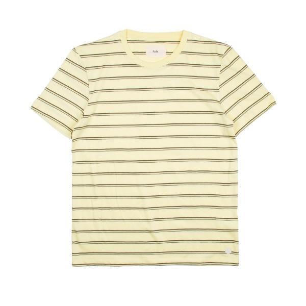 Folk Striped T-Shirt (Pale Lemon/Olive/Black)