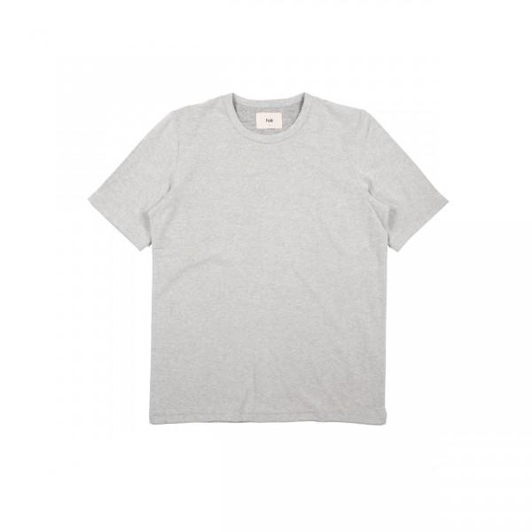 Folk Textured T-Shirt (Grey Melange Texture)