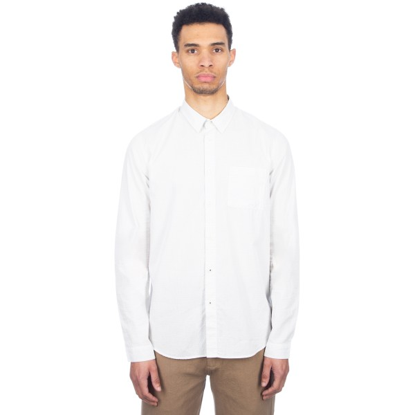 Folk Tri Pocket Shirt (Charcoal Navy Mini Dot)