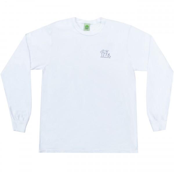 Frog Skateboards Man Logo Long Sleeve T-Shirt (White)