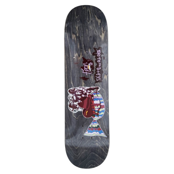 "Frog Skateboards Smoking Fish Skateboard Deck 8.25"""