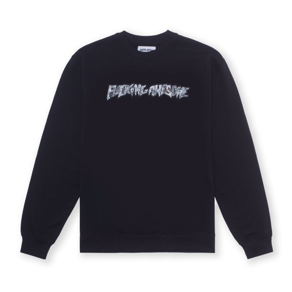 Fucking Awesome Actual Visual Guidance Crew Neck Sweatshirt (Black)