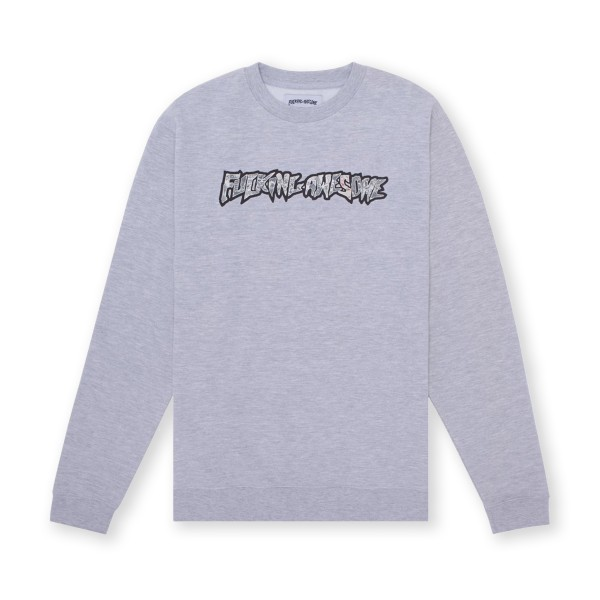 Fucking Awesome Actual Visual Guidance Crew Neck Sweatshirt (Grey Heather)