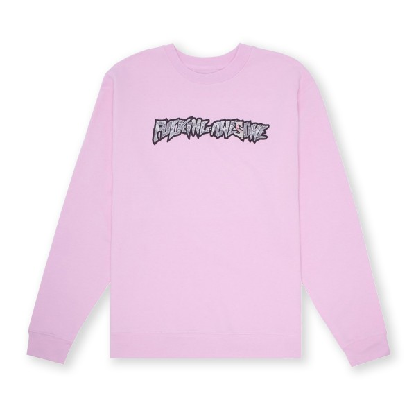 Fucking Awesome Actual Visual Guidance Crew Neck Sweatshirt (Pink)