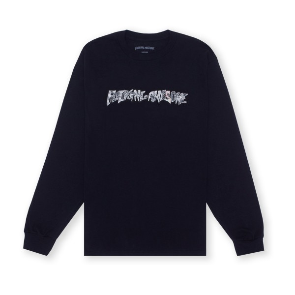 Fucking Awesome Actual Visual Guidance Long Sleeve T-Shirt (Black)