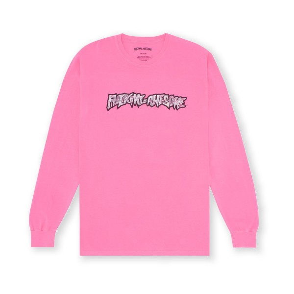 Fucking Awesome Actual Visual Guidance Long Sleeve T-Shirt (Neon Pink)