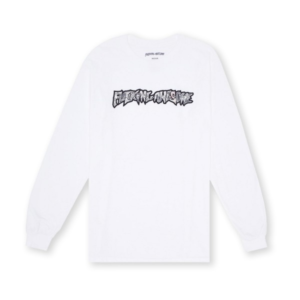 Fucking Awesome Actual Visual Guidance Long Sleeve T-Shirt (White)