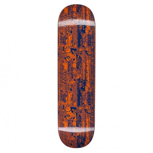 "Fucking Awesome Acupuncture Skateboard Deck 8.18"" (Orange/Blue)"