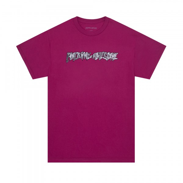 Fucking Awesome Acupuncture T-Shirt (Berry)