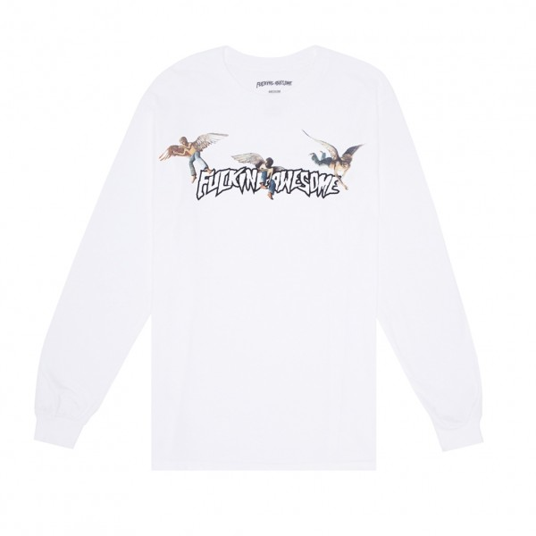 Fucking Awesome Angel Stamp Long Sleeve T-Shirt (White)