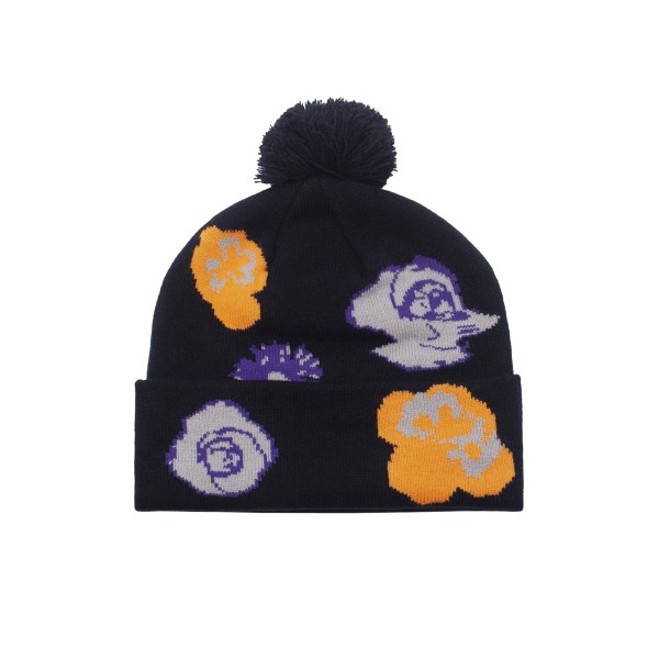 Fucking Awesome Botanical Ball Beanie (Black)