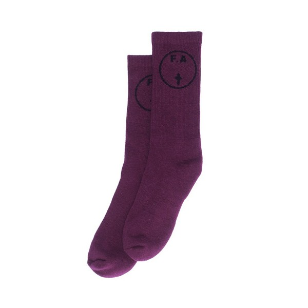 Fucking Awesome Cross Socks (Maroon)