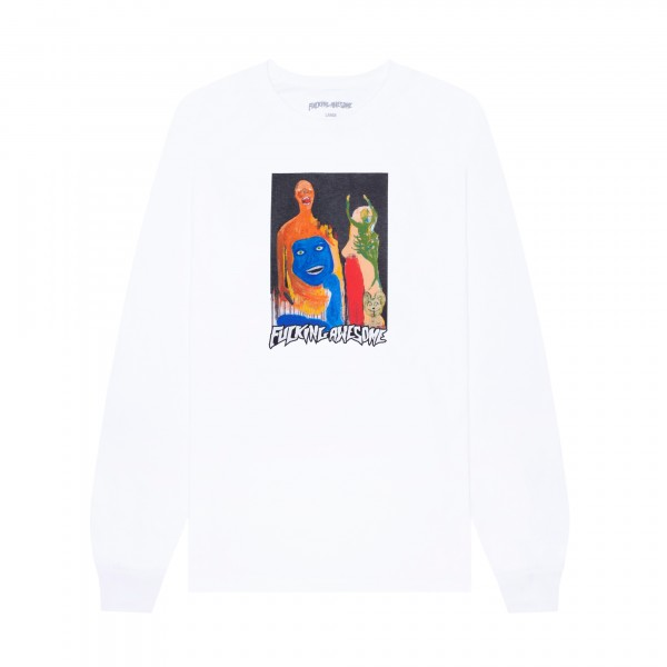 Fucking Awesome Dill Collage II Long Sleeve T-Shirt (White)