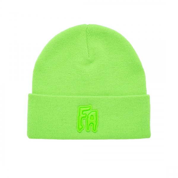 Fucking Awesome FA Applique Cuff Beanie (Neon Green)
