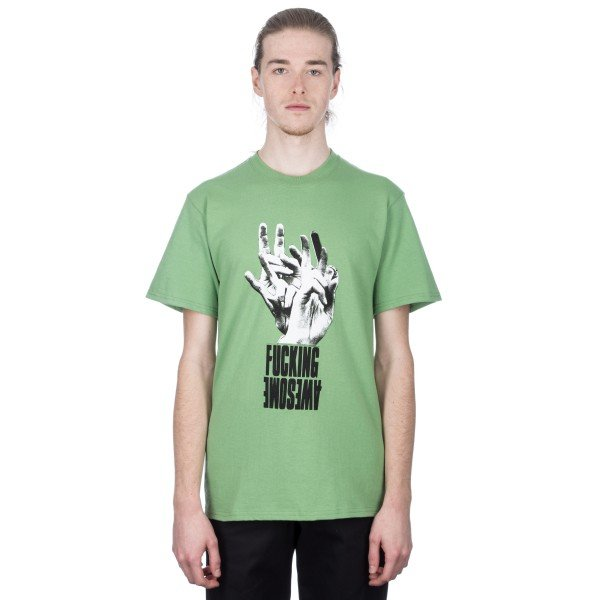 Fucking Awesome Fingers T-Shirt (Green)