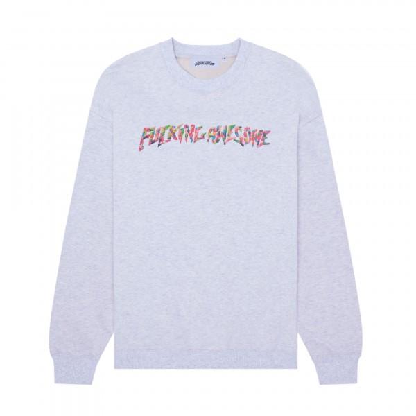 Fucking Awesome Gum Stamp Crew Neck Sweatshirt (Grey Heather)