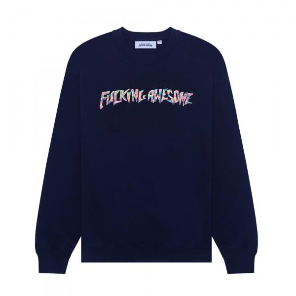 Fucking Awesome Gum Stamp Crew Neck Sweatshirt (Navy)