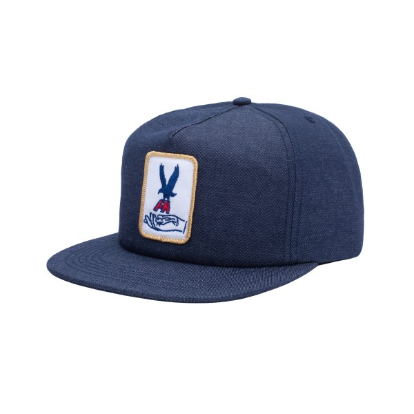 Fucking Awesome Hawk Snapback Cap (Navy)