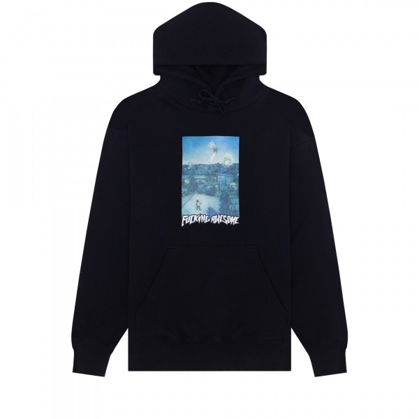 Fucking Awesome Helicopter Pullover Hooded Sweatshirt (Black)
