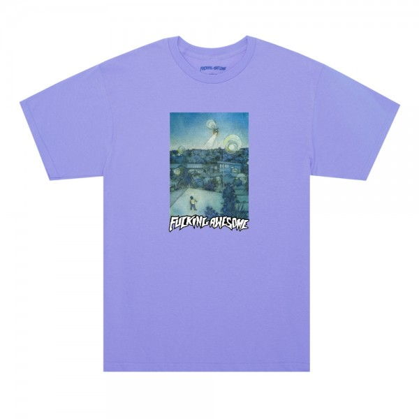Fucking Awesome Helicopter T-Shirt (Violet)