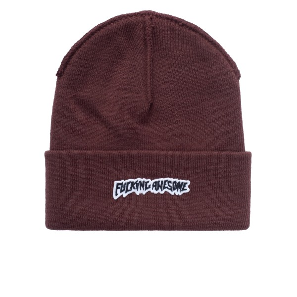 Fucking Awesome Little Stamp Cuff Beanie (Brown)
