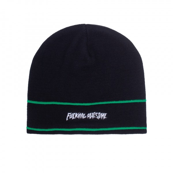 Fucking Awesome Little Stamp Stripe Beanie (Black)