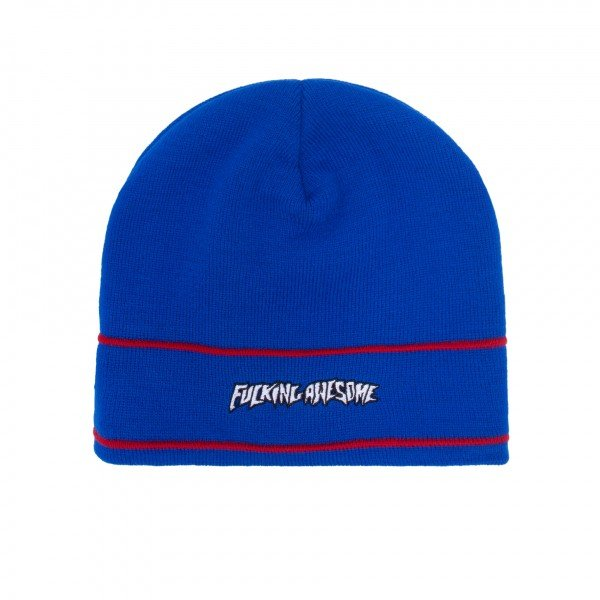 Fucking Awesome Little Stamp Stripe Beanie (Blue)