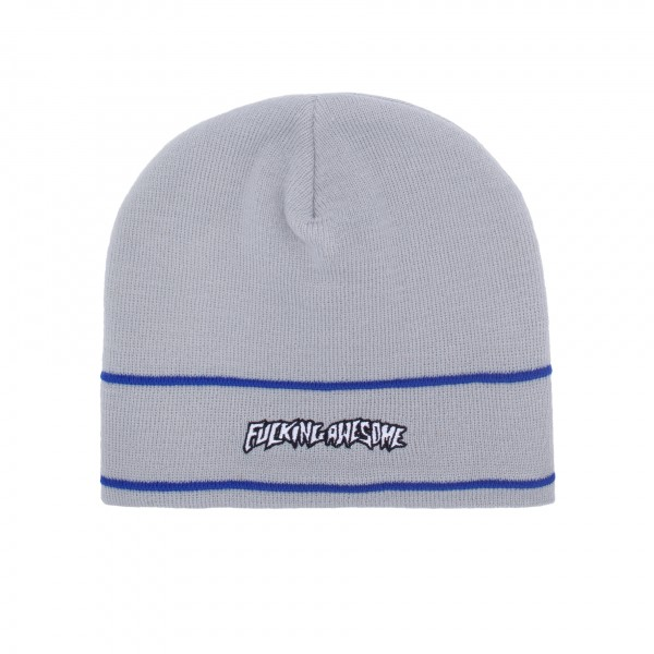 Fucking Awesome Little Stamp Stripe Beanie (Grey)