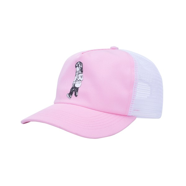 Fucking Awesome Make It Scream Mesh Snapback (Light Pink)