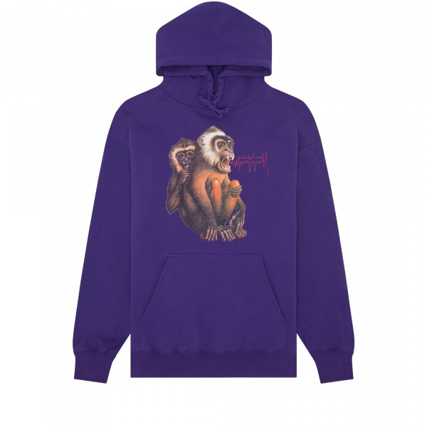 Fucking Awesome Monkey Radar Pullover Hooded Sweatshirt (Grape)