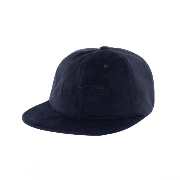Fucking Awesome Outline Drip Unstructured Velvet Strapback Cap (Black)