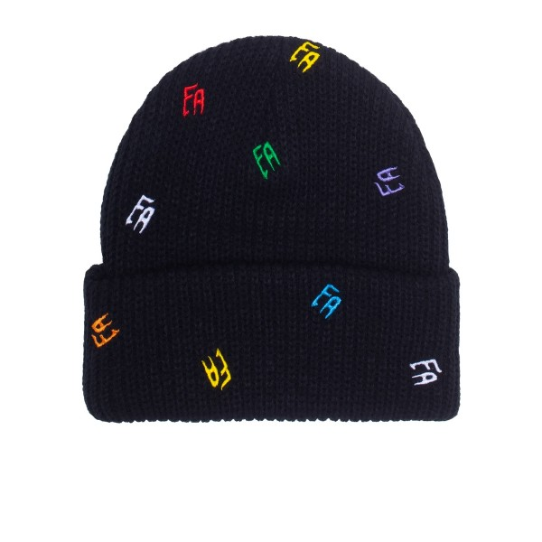 Fucking Awesome Scattered FA Cuff Beanie (Black)