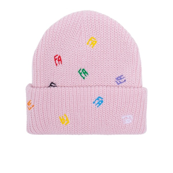 Fucking Awesome Scattered FA Cuff Beanie (Light Pink)